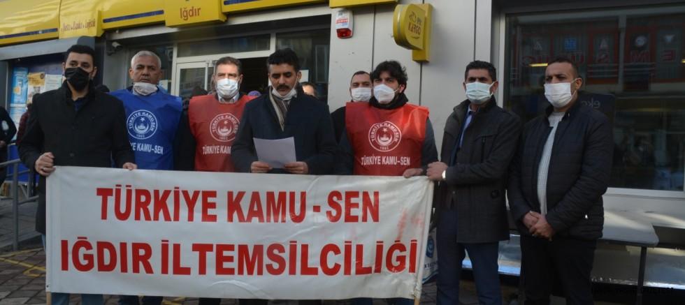 Iğdır Kamu-Sen'den Cumhurbaşkanı Erdoğan'a Mektup
