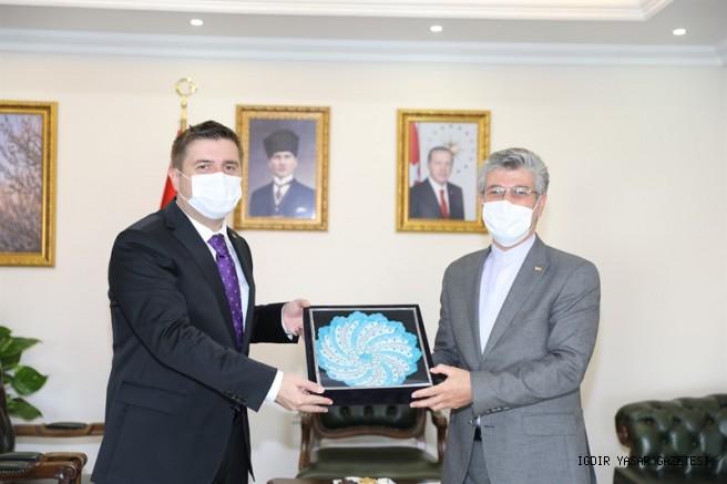 İran İslam Cumhuriyeti Erzurum Başkonsolosu Iğdır Valisini Ziyaret Etti