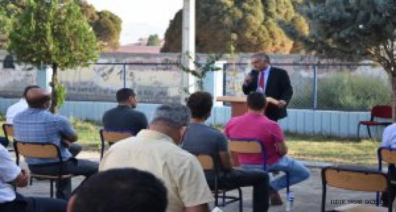 Okul Müdürleri Toplantısı Korona Virüs Tedbirleri Kapsamında Açık Havada  Gerçekleşti